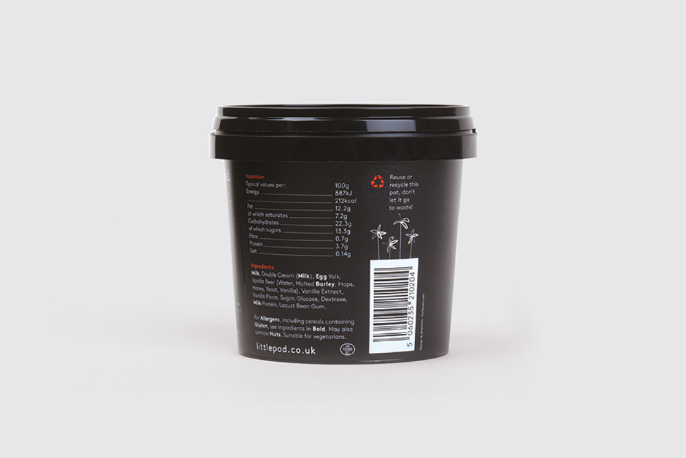 LittlePod ice cream packaging