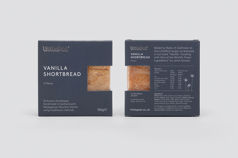 LittlePod shortbread packaging
