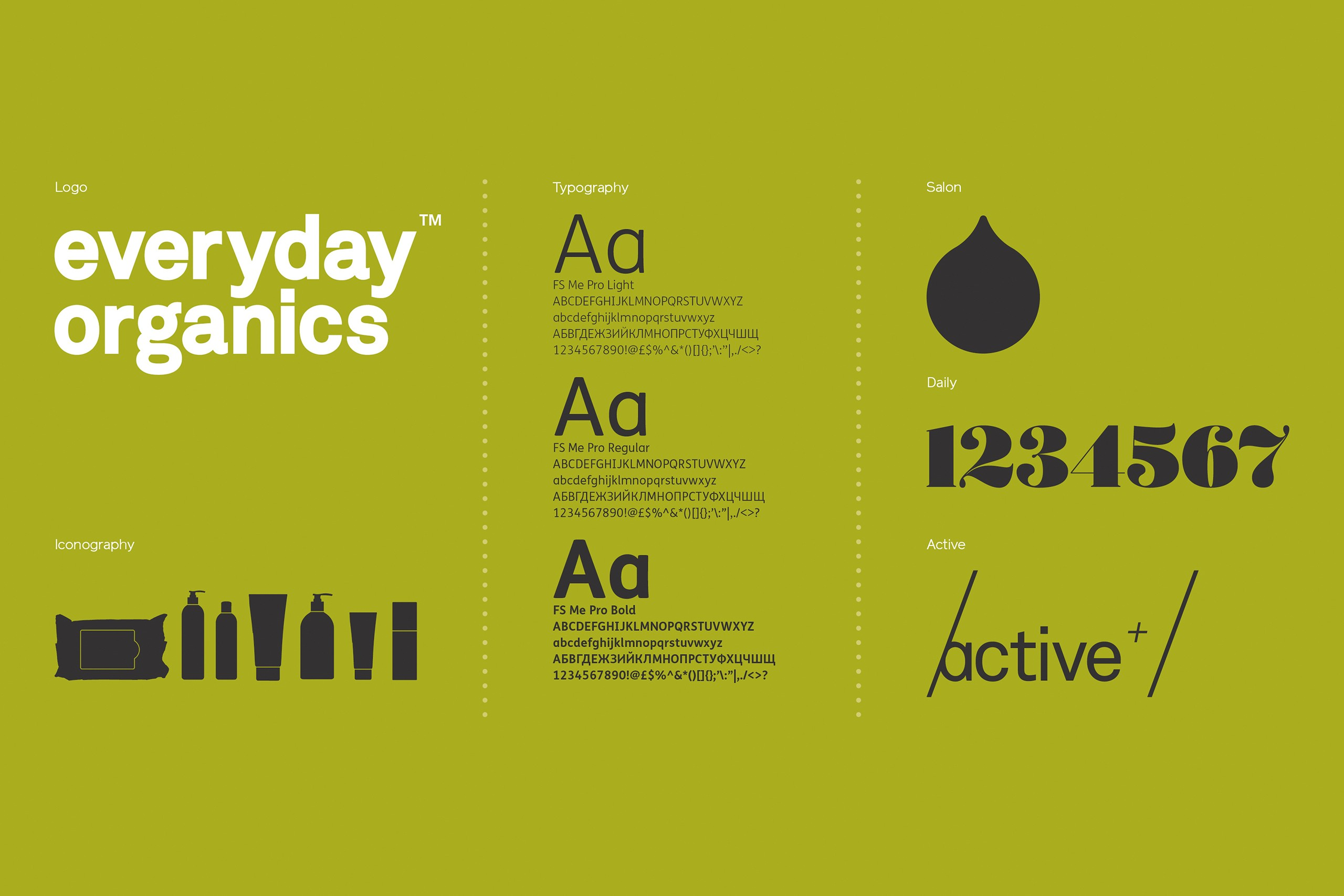 Everyday Organics  - Brand identity & packaging