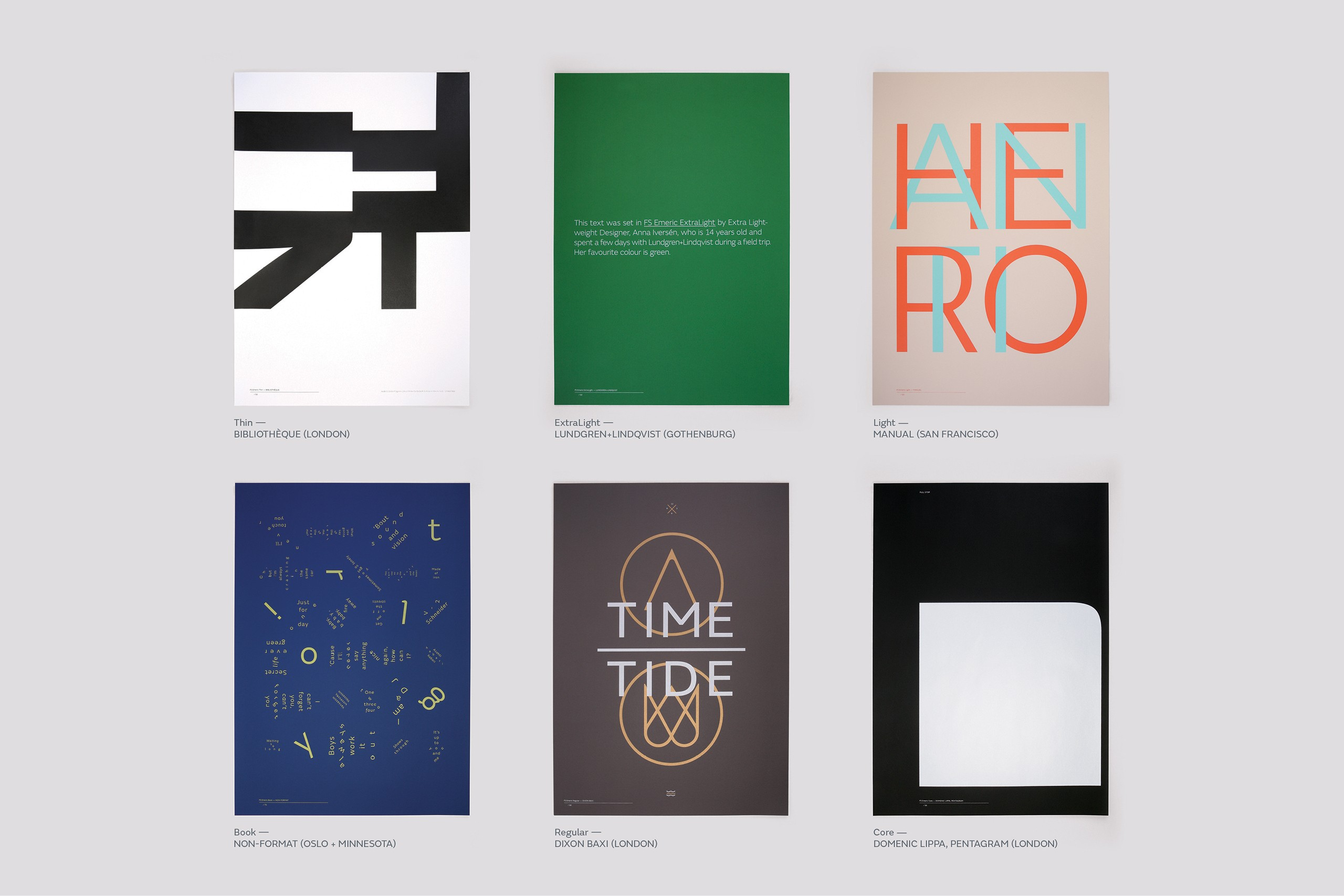 Fontsmith - FS Emeric launch campaign and poster series
