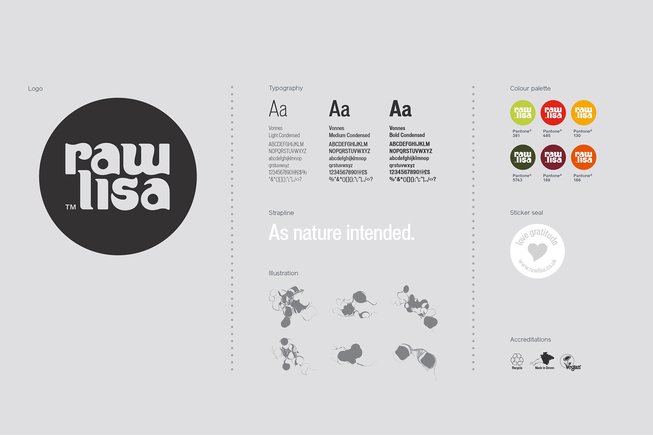Raw Lisa - Brand Identity and Packaging